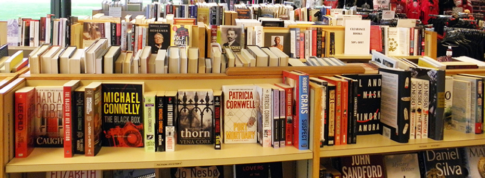 The bookstore's popular fiction and nonfiction section