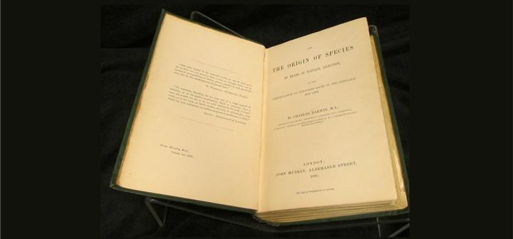 Title page of On the Origin of Species, 1st edition, by Charles Darwin