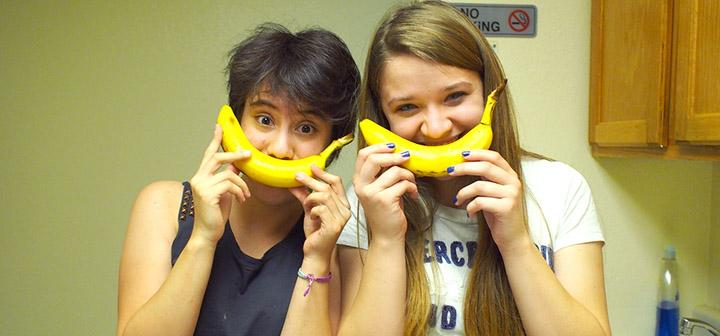 Clowning around with bananas