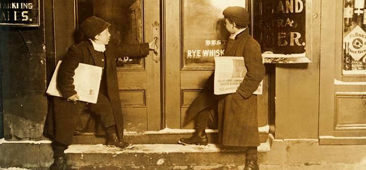 Newsboys in 1909