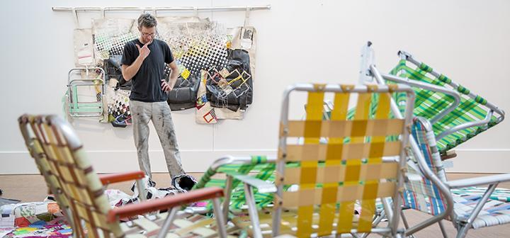 Greg Smith at installation