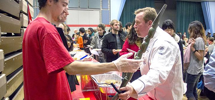 Student receiving the third place Chef's Choice award