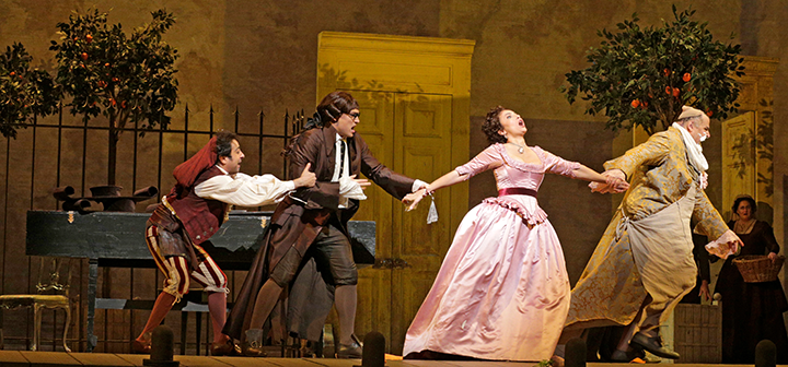 Scene from Met Opera's The Barber of Seville