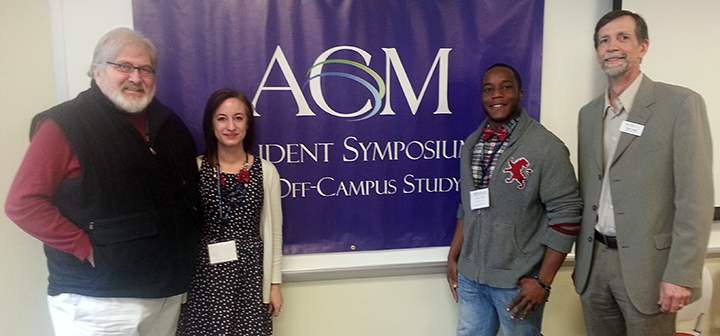 Houston Dougharty, Carmen Nelson '14, Jeremy Wiles '15, and Scott Lewis '78, ACM Dir. of Publications