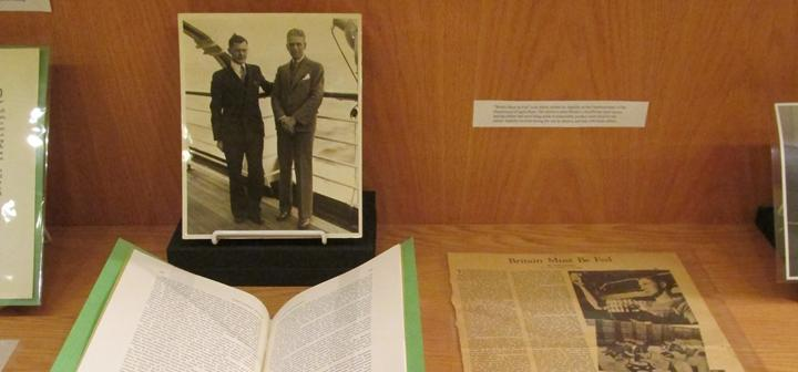 Appleby Exhibit in Special Collections Burling basement