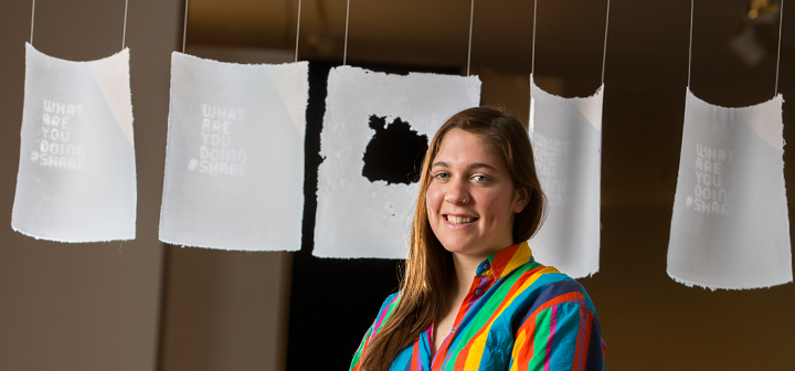 Delia Salomon '14 and her best-in-show art