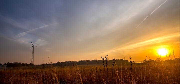 Sunsetting on the prairie