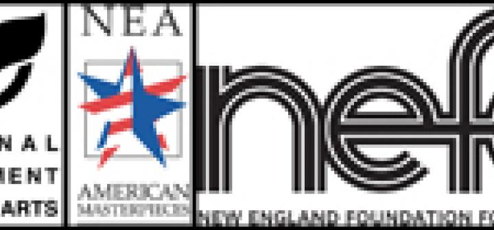 Combined logos for NEA, American Masterpiece, and NEFA