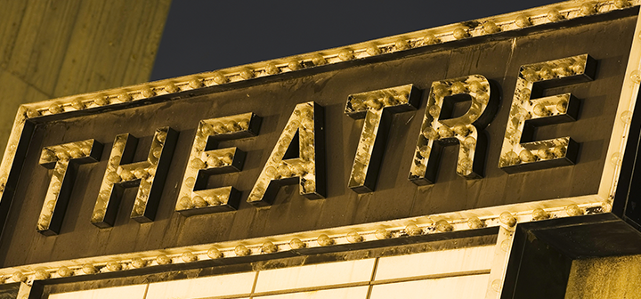 Old Theater Sign