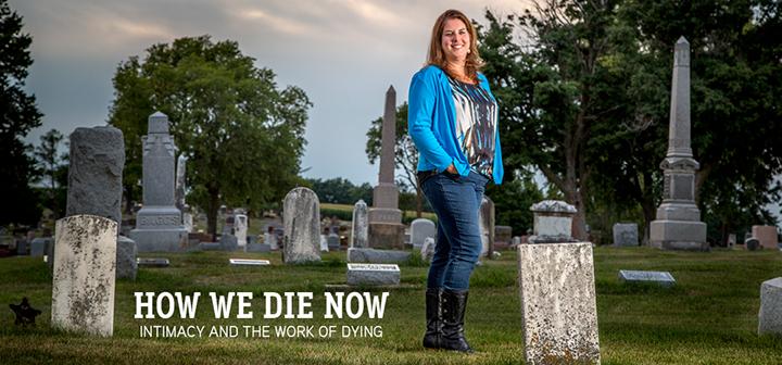 Karla Erickson in graveyard