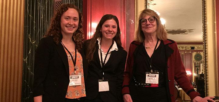Annie Galloway and Christine Hood meet Elizabeth Loftus, a prominent figure in memory research.