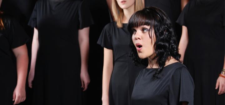 Singer in a choir