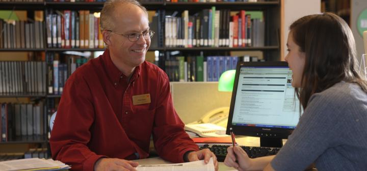Reference desk, Burling Library
