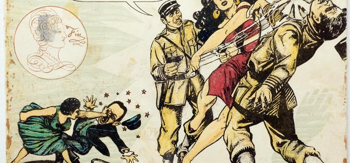 """Enrique Chagoya's  """"Les Aventures des Cannibales Modernistes (detail)"""""""