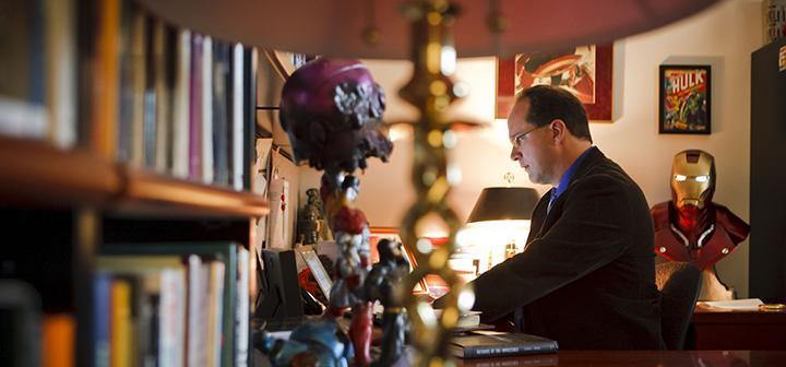 Jeffrey Kripal at desk