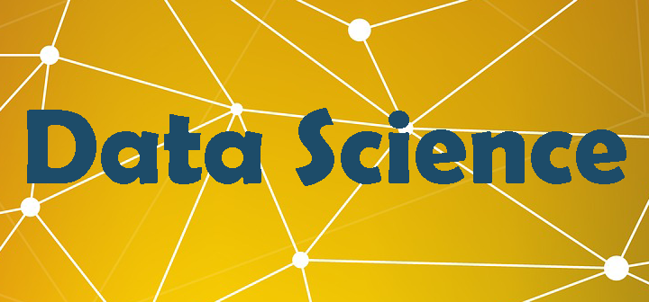"""The words """"Data Science"""" on a background of interconnected nodes."""