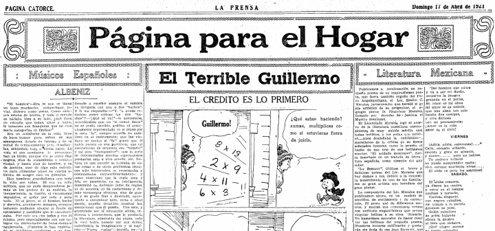 detail from page 14 of La Prensa, April 17, 1921