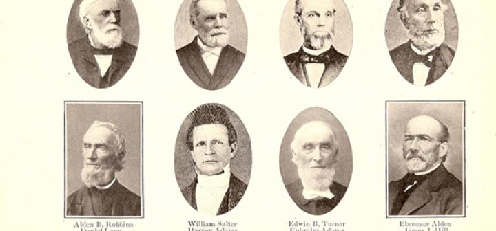 Photos of Grinnell College founders