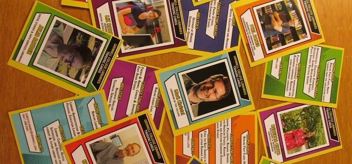 Grinnell College Librarian Trading Cards