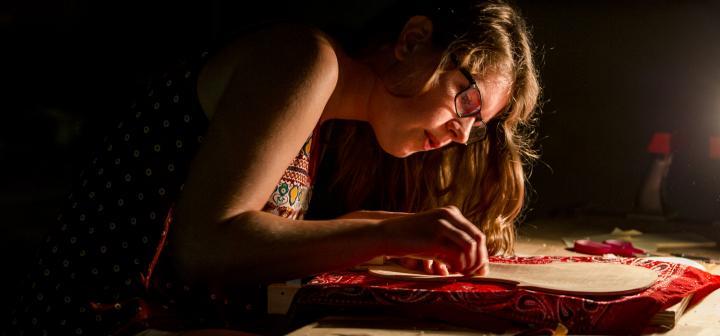 Katie Krainc '17 sands her violin