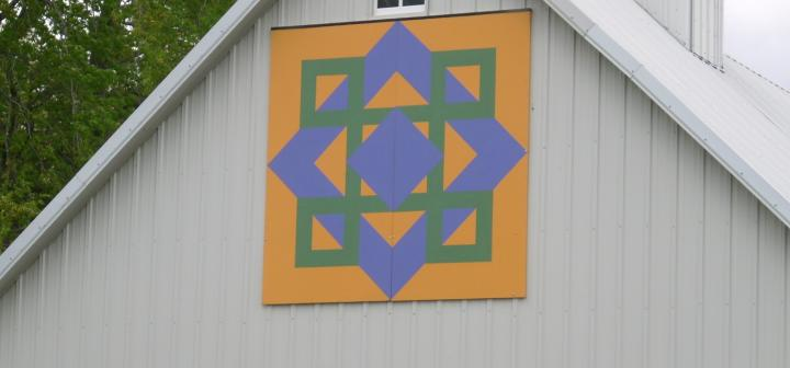 Celtic Sunrise barn quilt