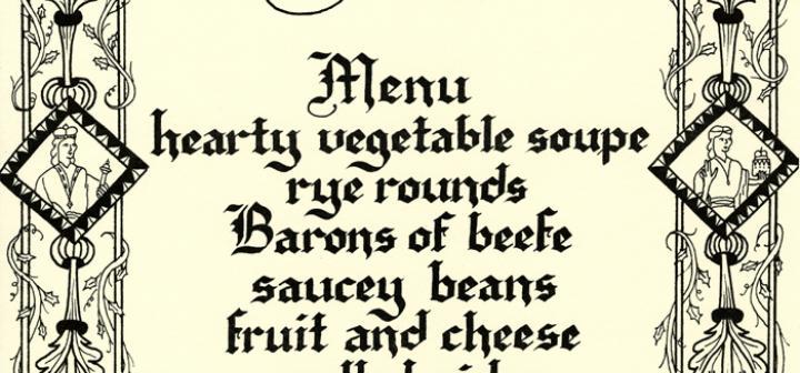 Renaissance Feast menu