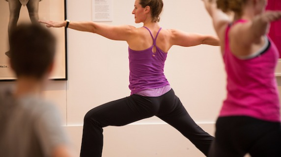 Yoga in Faulconer Gallery
