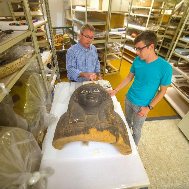 Collin Davis-Johnson '15 interning at the Denver Museum of Nature and Science