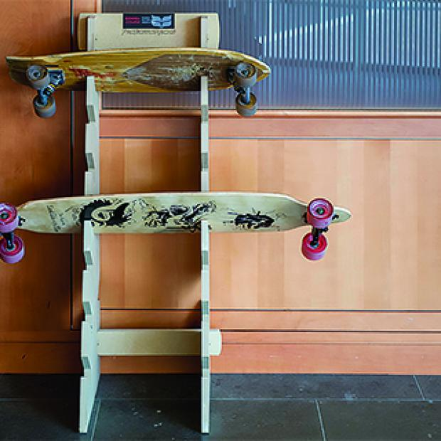 Skateboard rack in JRC