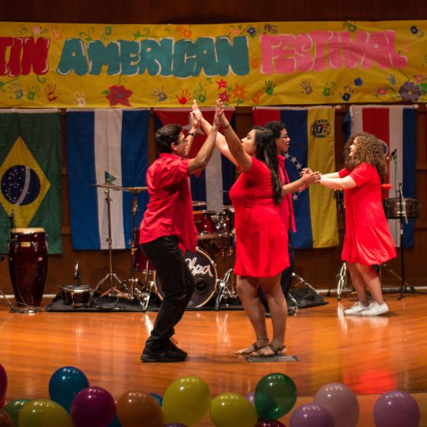 Students dance at Latin American Festival