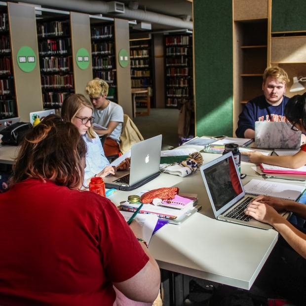 students study at Burling Library