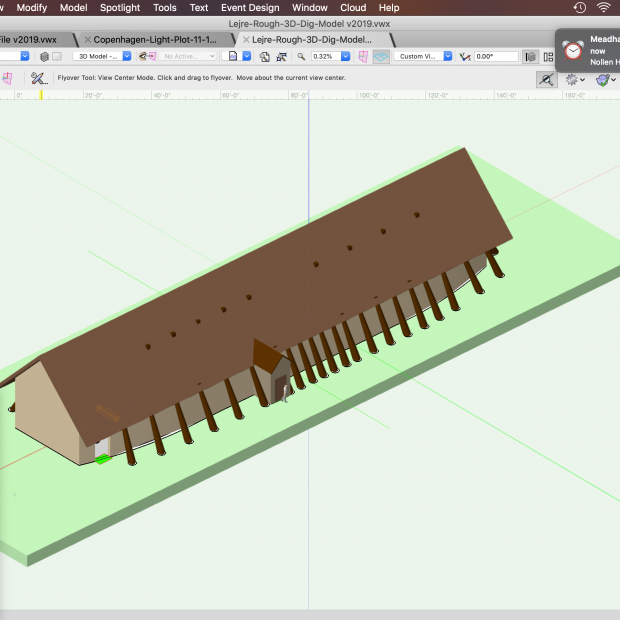 Mead hall model in 3D