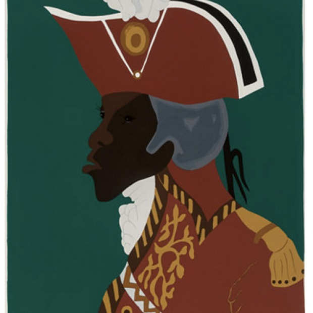 Print by Jacob Lawrence of Toussaint L'Ouverture