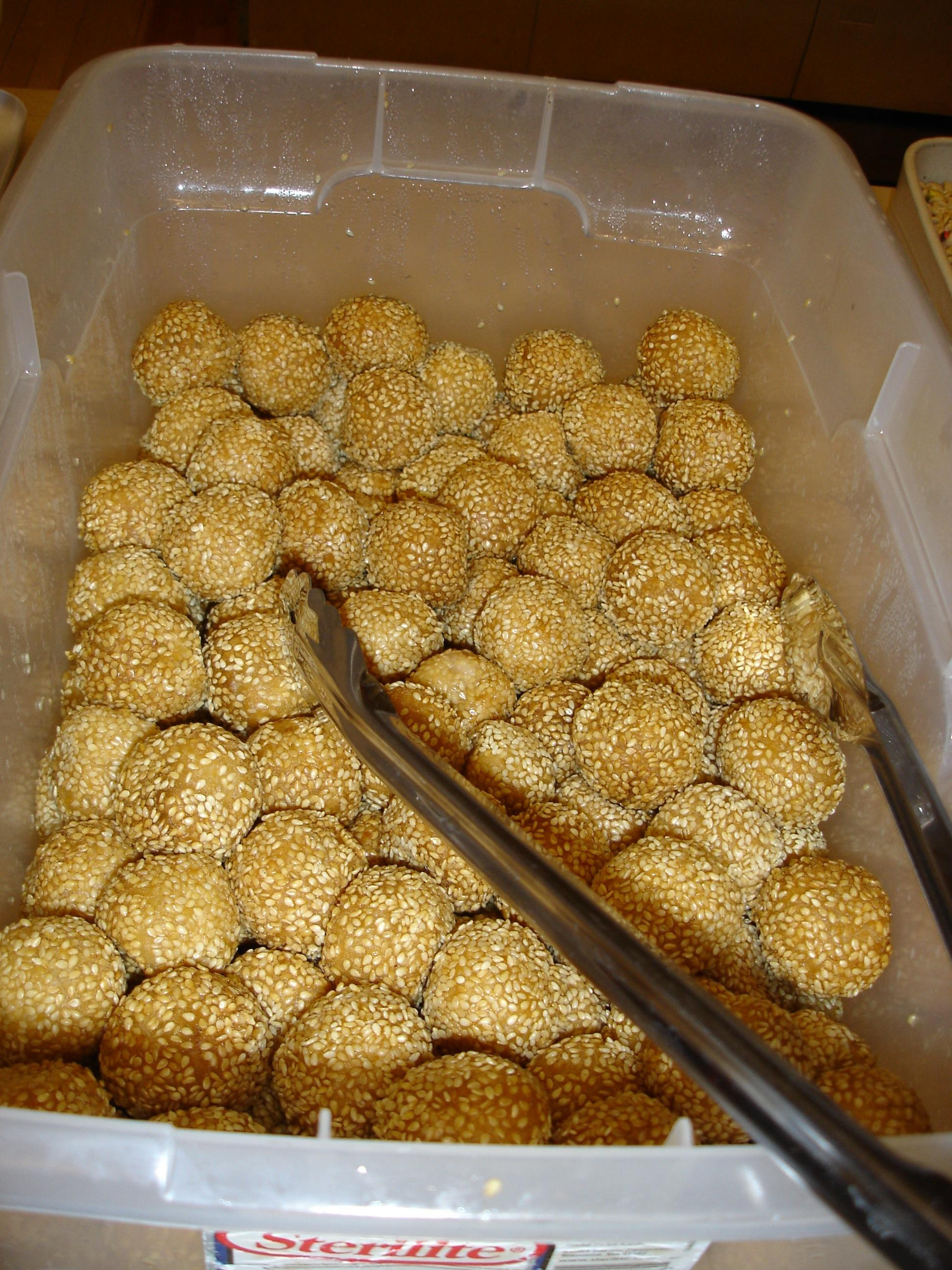 Lunar New Year Sesame Balls