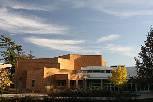 Bucksbaum Center for the Arts in the summer