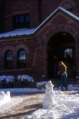 Goodnow Hall during Winter