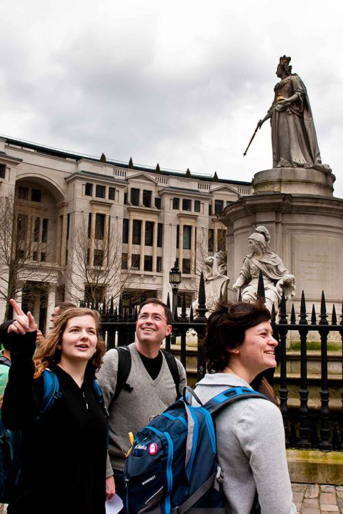 Students and professors explore foreign cities