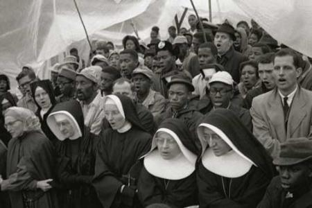 Nuns Singing in a Tent