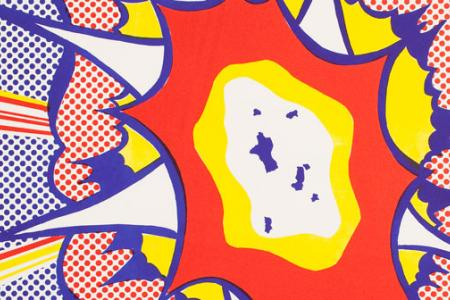 Detail from Detail from Roy Lichtenstein's Explosion, fromPortfolio 9, 1967.