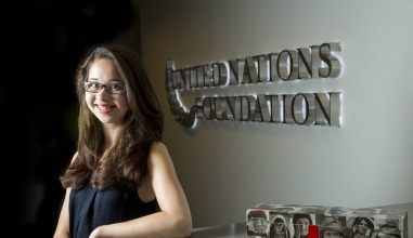 Allison Wong '12 at the United Nations Foundation