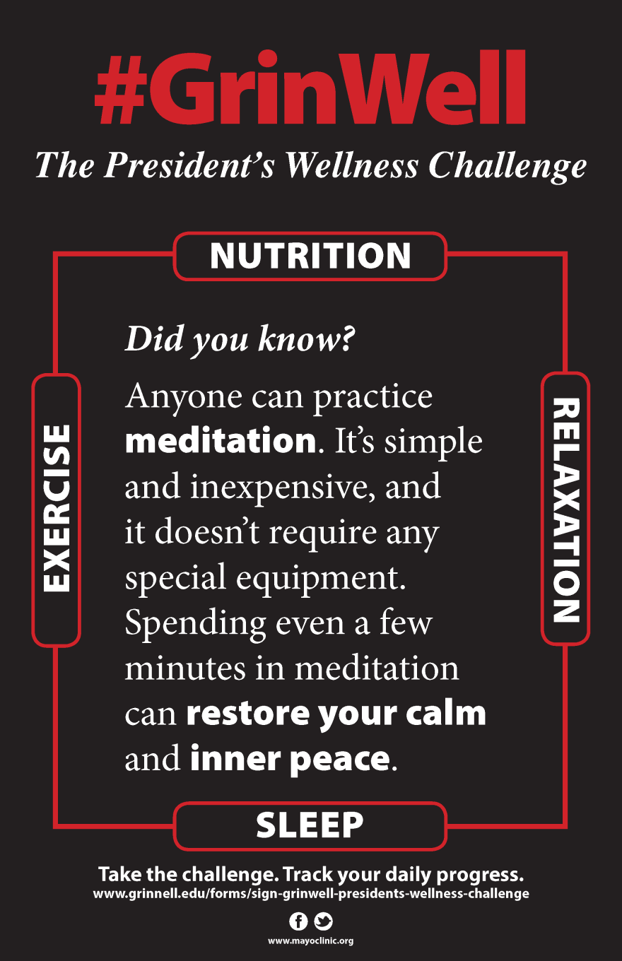 Poster: Meditate for calm