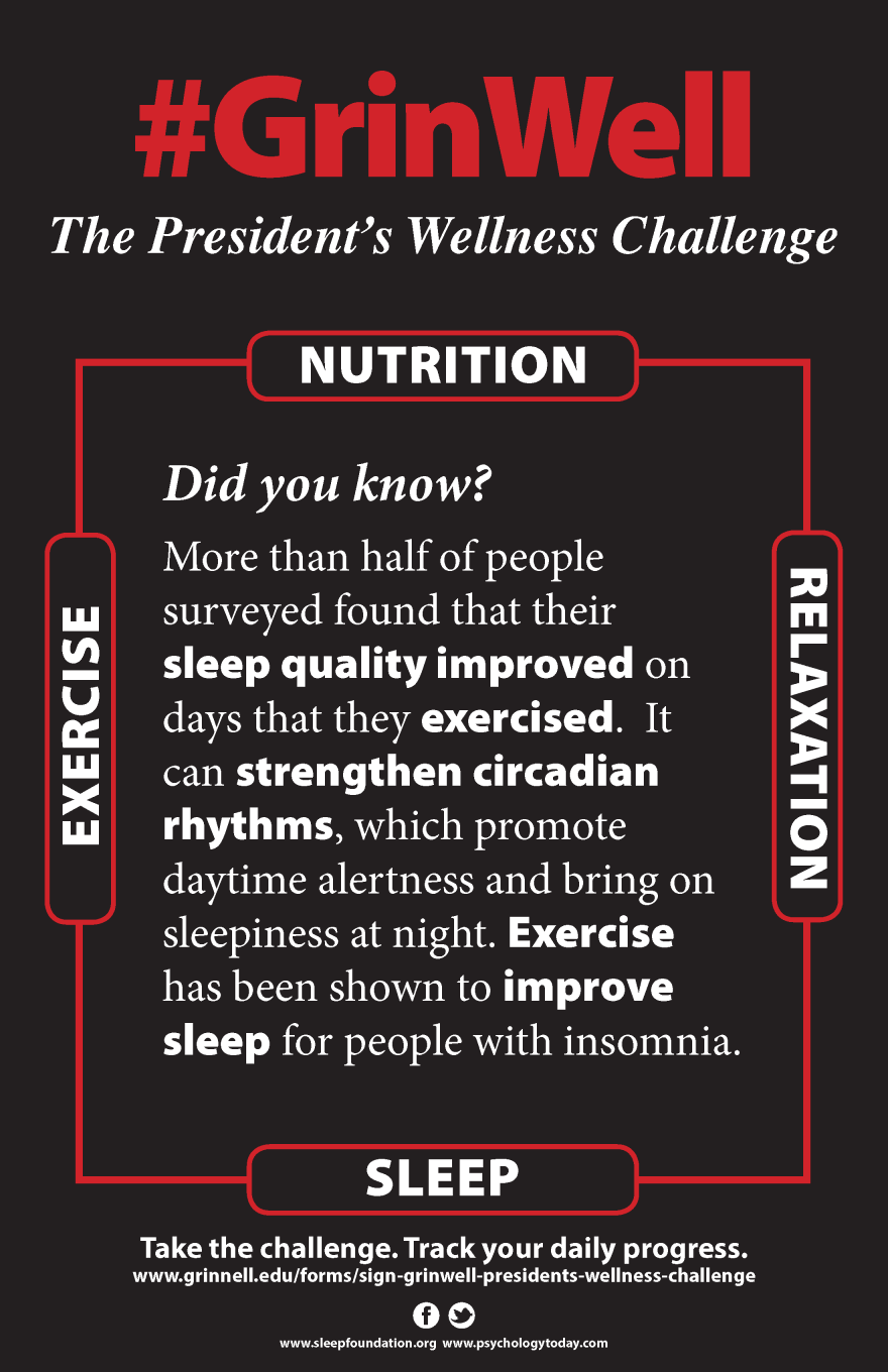 Poster: Exercise improves sleep