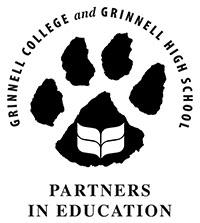 The Partners in Education Logo symbolizing the connection between Grinnell College and the Grinnell High School Library