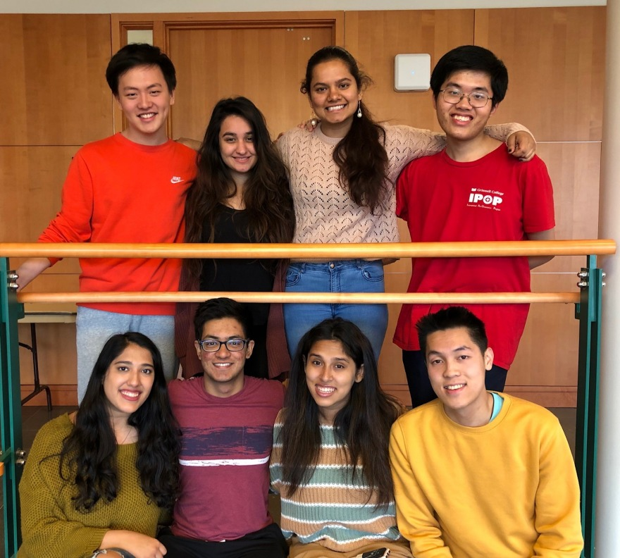 Grinnell College International Student Organization Cabinet for 2019-20
