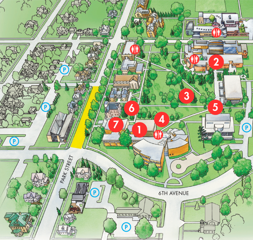 grinnell college campus map Location And Parking Grinnell College grinnell college campus map
