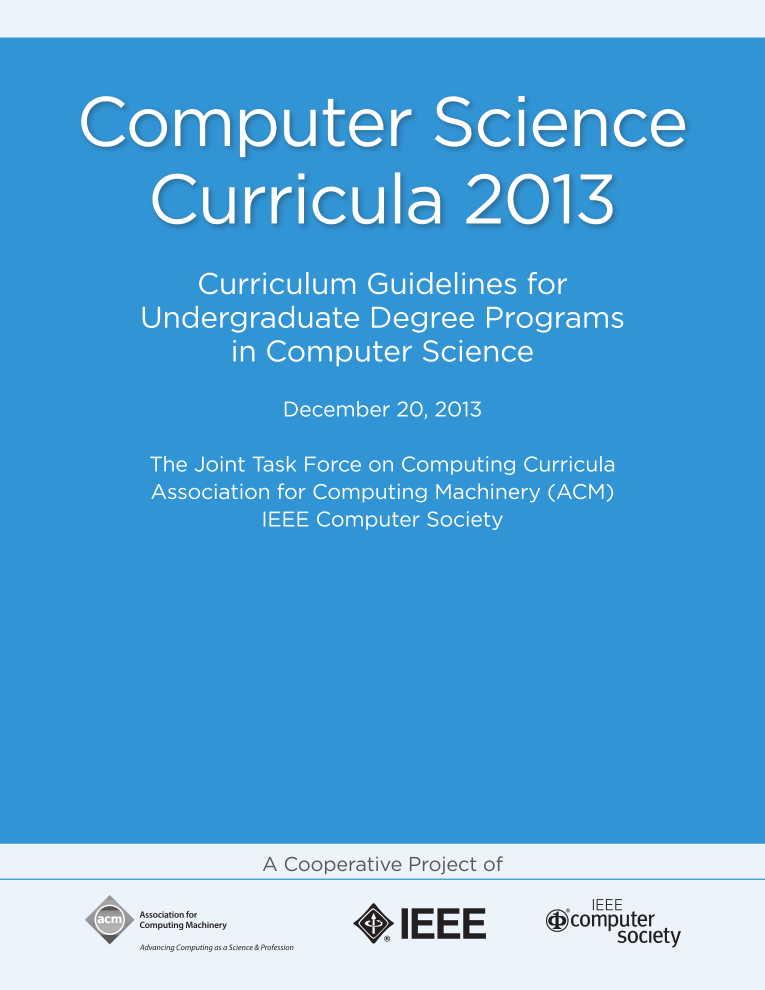 Cover of Computer Science Curricula 2013