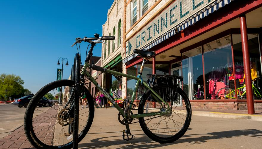 Bike in downtown Grinnell
