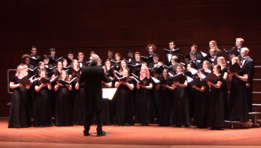 Grinnell Singers performing Her Beacon Hand