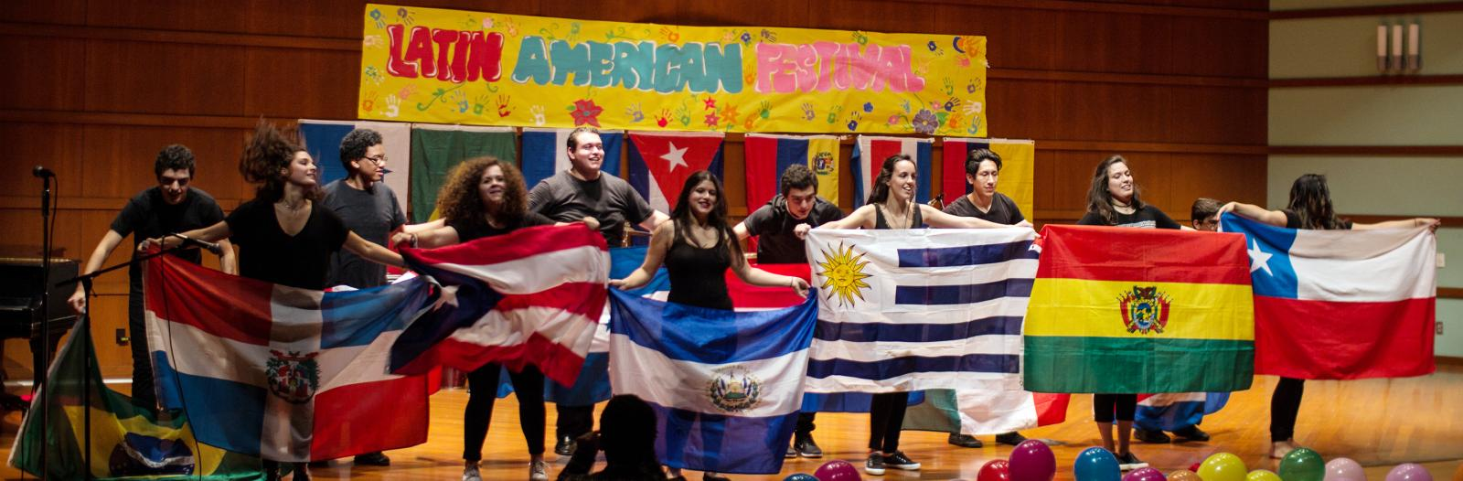Students at Latin America festival