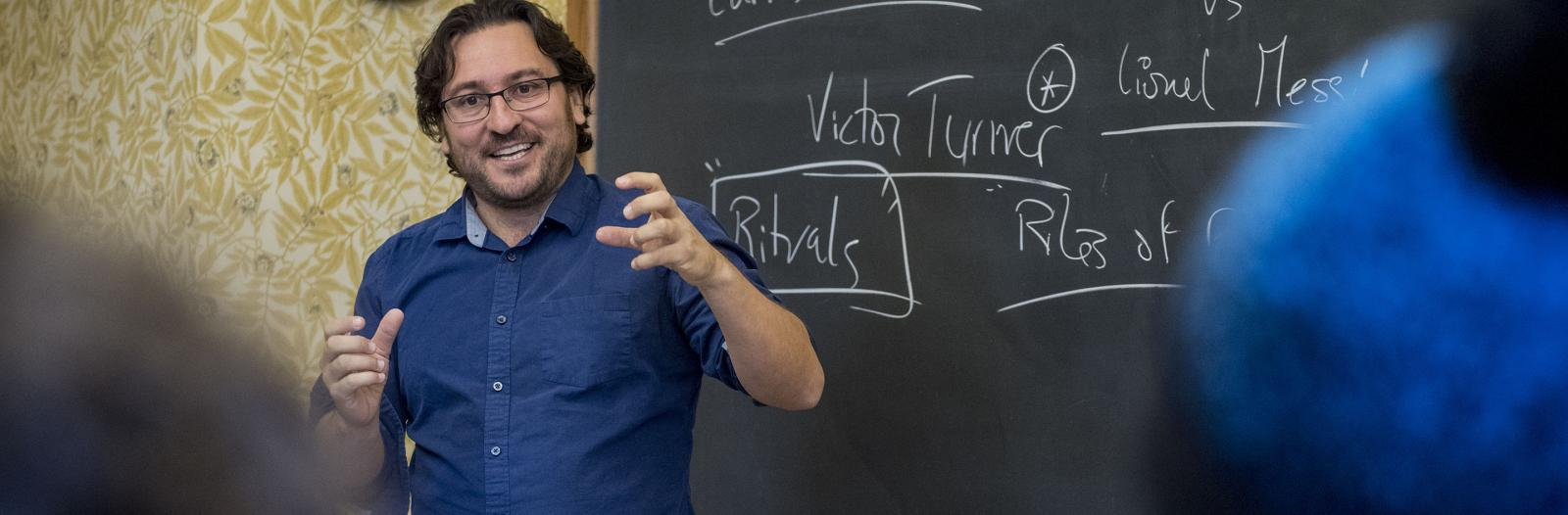 Escandell teaches students in his tutorial class